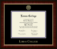 Loras College Diploma Frame - Gold Embossed Diploma Frame in Murano