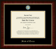 State of Texas Certificate Frame - Masterpiece Medallion Certificate Frame in Murano
