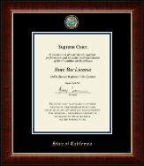 State of California Certificate Frame - Masterpiece Medallion Certificate Frame in Murano