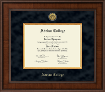 Adrian College Diploma Frame - Presidential Gold Engraved Diploma Frame in Madison