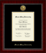 Mount Mary University Diploma Frame - Gold Engraved Medallion Diploma Frame in Sutton