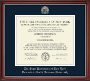 The SUNY Downstate Health Sciences University Diploma Frame - Silver Engraved Medallion Diploma Frame in Kensington Silver