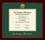 The College at Brockport Diploma Frame - Gold Engraved Medallion Diploma Frame in Sutton