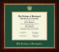 The College at Brockport Diploma Frame - Gold Embossed Diploma Frame in Murano