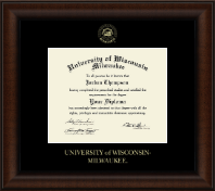 University of Wisconsin-Milwaukee Diploma Frame - Gold Embossed Diploma Frame in Lenox