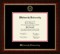 Whitworth University Diploma Frame - Gold Embossed Diploma Frame in Murano