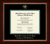 SUNY The College of Old Westbury Diploma Frame - Gold Embossed Diploma Frame in Murano