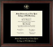 SUNY The College of Old Westbury Diploma Frame - Gold Embossed Diploma Frame in Studio