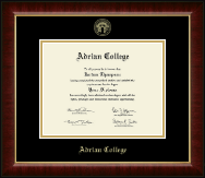 Adrian College Diploma Frame - Gold Embossed Diploma Frame in Murano