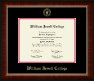William Jewell College Diploma Frame - Gold Embossed Diploma Frame in Murano