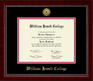 William Jewell College Diploma Frame - Gold Engraved Medallion Diploma Frame in Sutton