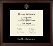 Bradley University Diploma Frame - Gold Embossed Diploma Frame in Studio