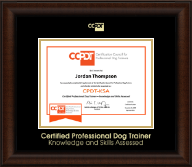 Certification Council for Professional Dog Trainers Certificate Frame - Gold Embossed CPDT-KSA Certificate Frame in Lenox