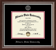 Illinois State University Diploma Frame - Silver Embossed Diploma Frame in Devonshire
