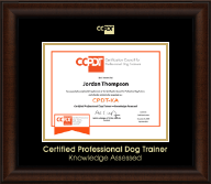 Certification Council for Professional Dog Trainers Certificate Frame - Gold Embossed CPDT-KA Certificate Frame in Lenox