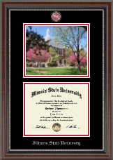 Illinois State University Diploma Frame - Campus Scene Masterpiece Diploma Frame in Chateau