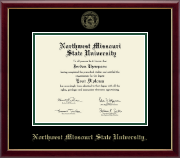 Northwest Missouri State University Diploma Frame - Gold Embossed Diploma Frame in Galleria