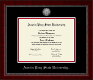 Austin Peay State University Diploma Frame - Silver Engraved Medallion Diploma Frame in Sutton