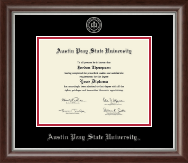 Austin Peay State University Diploma Frame - Silver Embossed Diploma Frame in Devonshire
