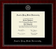 Austin Peay State University Diploma Frame - Silver Embossed Diploma Frame in Sutton