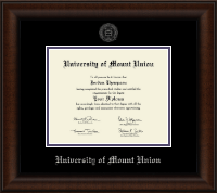 University of Mount Union Diploma Frame - Silver Embossed Diploma Frame in Lenox