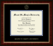Mount St. Mary's University Diploma Frame - Gold Embossed Diploma Frame in Murano