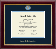 Lasell University Diploma Frame - Masterpiece Medallion Diploma Frame in Gallery
