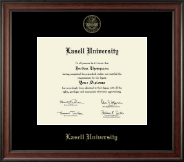 Lasell University Diploma Frame - Gold Embossed Diploma Frame in Studio