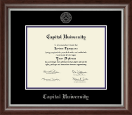 Capital University Diploma Frame - Silver Embossed Diploma Frame in Devonshire
