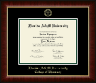 Florida A&M University Diploma Frame - Gold Embossed Diploma Frame in Murano
