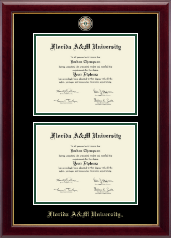 Florida A&M University Diploma Frame - Masterpiece Medallion Double Diploma Frame in Gallery
