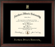 Northern Illinois University Diploma Frame - Gold Embossed Diploma Frame in Studio