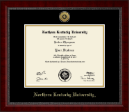 Northern Kentucky University Diploma Frame - Gold Engraved Medallion Diploma Frame in Sutton