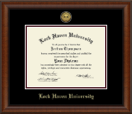 Lock Haven University Diploma Frame - Gold Engraved Medallion Diploma Frame in Austin