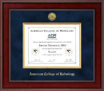 American College of Radiology Certificate Frame - Presidential Gold Engraved Certificate Frame in Jefferson