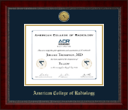 American College of Radiology Certificate Frame - Gold Engraved Medallion Certificate Frame in Sutton