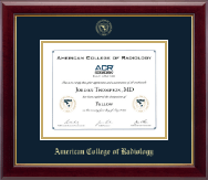 American College of Radiology Certificate Frame - Gold Embossed Certificate Frame in Gallery