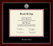 South College Diploma Frame - Silver Engraved Medallion Diploma Frame in Sutton
