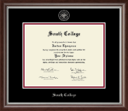 South College Diploma Frame - Siver Embossed Diploma Frame in Devonshire