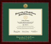 University of North Texas Diploma Frame - Gold Engraved Medallion Diploma Frame in Sutton