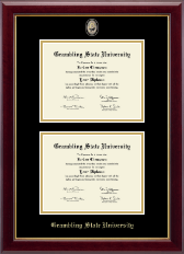 Grambling State University Diploma Frame - Masterpiece Medallion Double Diploma Frame in Gallery