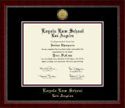 Loyola Law School Los Angeles Diploma Frame - Gold Engraved Medallion Diploma Frame in Sutton