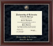 University of Colorado Colorado Springs Diploma Frame - Regal Edition Diploma Frame in Chateau