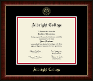 Albright College Diploma Frame - Gold Embossed Diploma Frame in Murano