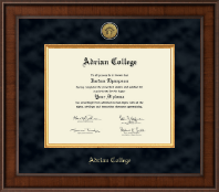 Masters- Presidential Gold Engraved Diploma Frame