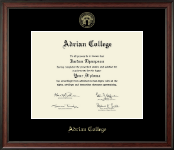 Masters- Gold Embossed Diploma Frame