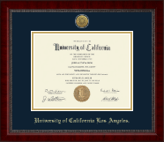 University of California Los Angeles Diploma Frame - Gold Engraved Medallion Diploma Frame in Sutton