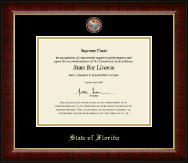 State of Florida Certificate Frame - Masterpiece Medallion Certificate Frame in Murano