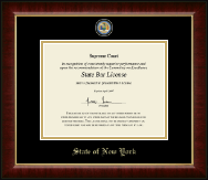 State of New York Certificate Frame - Masterpiece Medallion Certificate Frame in Murano