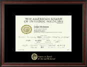 """11""""x17""""- Gold Embossed Certificate Frame"""